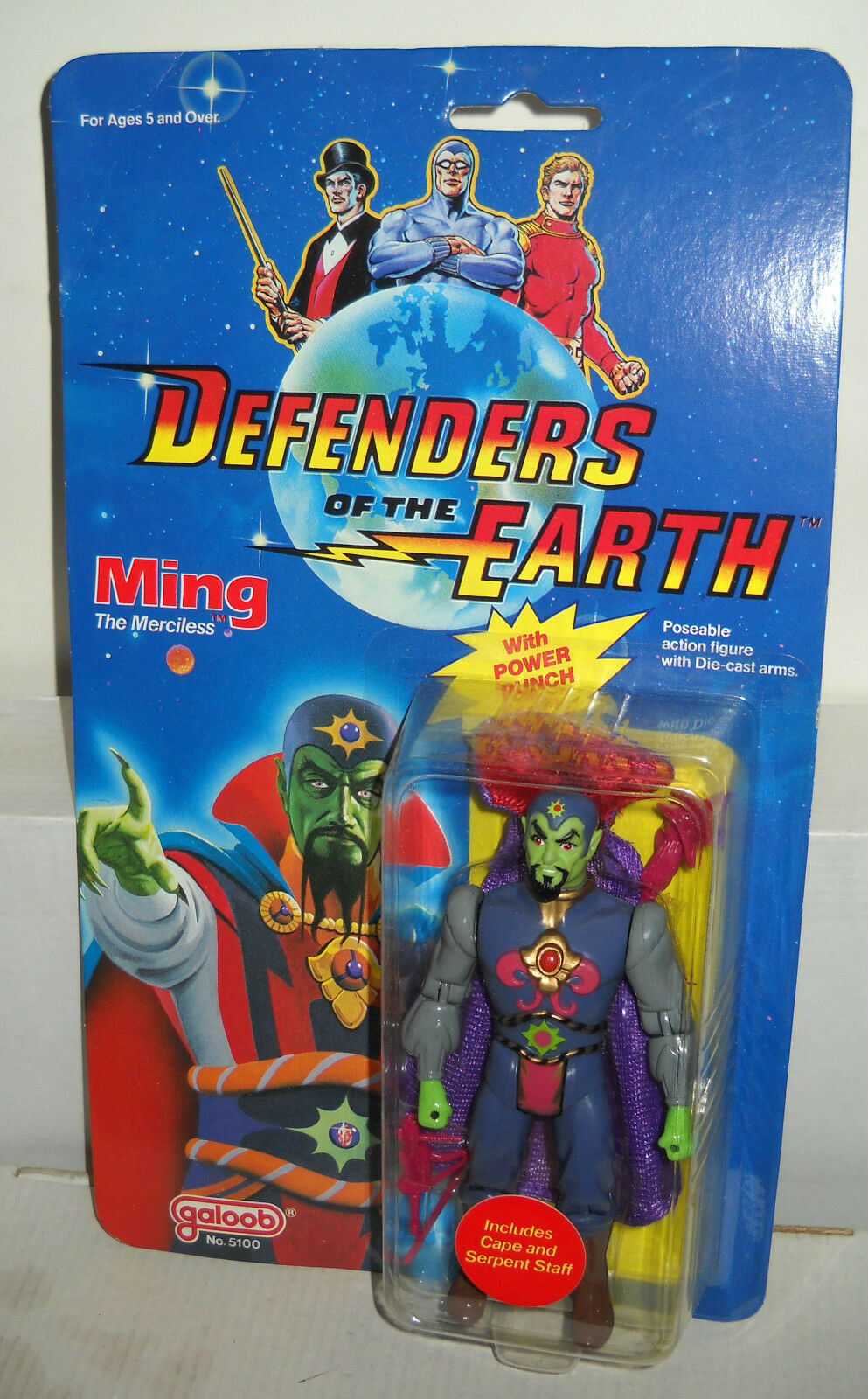 NRFC Vintage Galoob Defenders of the Earth Flash Ming the Merciless Figure