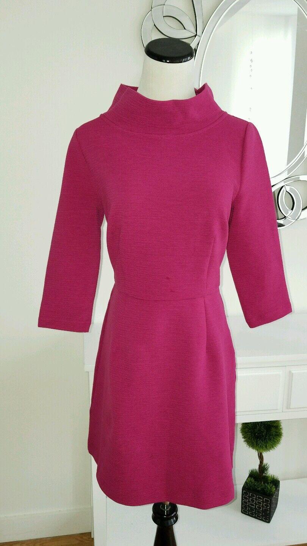 d133723a2f9 Boden Sheath Flare Warm Cotton R US 6 R NEW Dress Burgundy ...