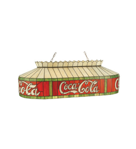"Coca Cola Stain Glass Billiards Light Hanging Ceiling Lighting 32/"" 98072"