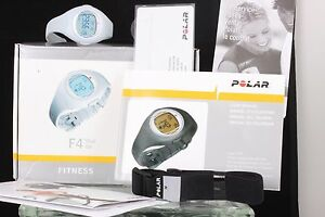 POLAR-F4-BLUE-ICE-FITNESS-HEART-RATE-MONITOR-W-BELT-MANUAL-IN-BOX-WATCH-5611