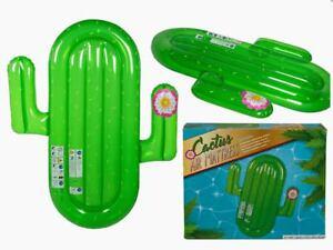 Jumbo calidad novedad Cactus en forma Inflable Natación Pool Float Raft Lilo Tumbona