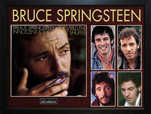 Bruce-Springsteen-Signed-The-Wild-Album-Cover-Display-AFTAL-UACC-RD-COA-PSA