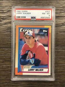 1990 Topps Baseball Larry Walker Card #757 PSA 8 NM-MT Rookie RC HOF Expos