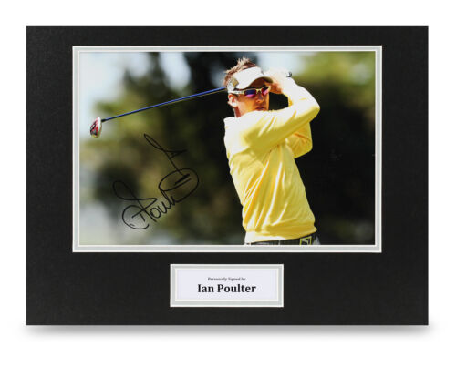 Ian Poulter Signed 16x12 Photo Ryder Cup Autograph Display Memorabilia + COA