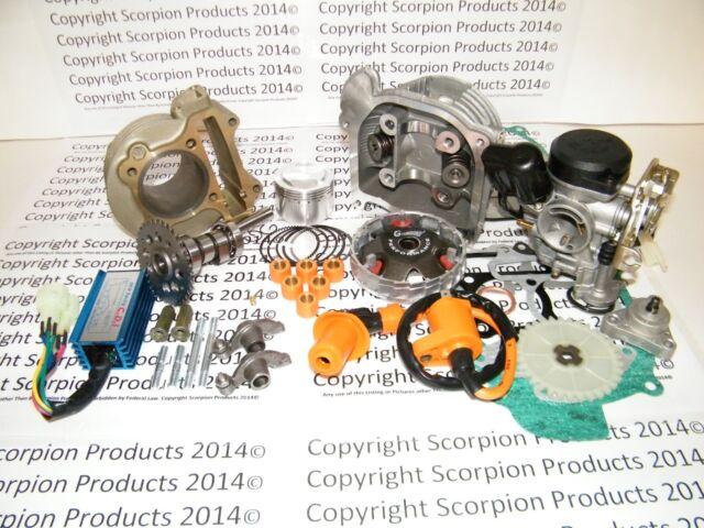 52mm 105cc Big Bore Performance Kit A9 Cam CDI Carburetor GY6 50cc 139QMB 1P39QM