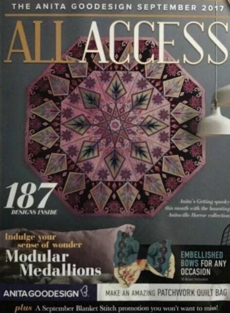 Anita Goodesign todo el acceso Club VIP 2018 de agosto diseño del bordado CD y libro