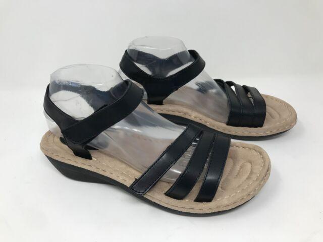 6643c8ff636 New! Women's Cobbie Cuddlers 52197 Ritza Wedge Sandal - Black (Wide Width)  R16