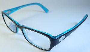 441ae87476 Image is loading Prodesign-Reading-Glasses-Blue-Black-Womens-51-17-