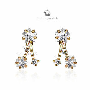 18k-white-yellow-gold-made-with-SWAROVSKI-crystal-star-earrings-mini-ear-jacket