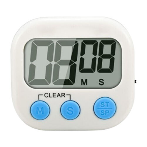 Magnetic Digital Kitchen Cooking Timer with Loud Alarm and Large LCD Display RF