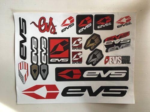 EVS sports sticker sheet motocross FMX Moto-x dirt bike race ride bicycle