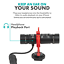 thumbnail 7 - Movo DoubleMic Dual-Capsule Condenser Microphone for Smartphones and Cameras