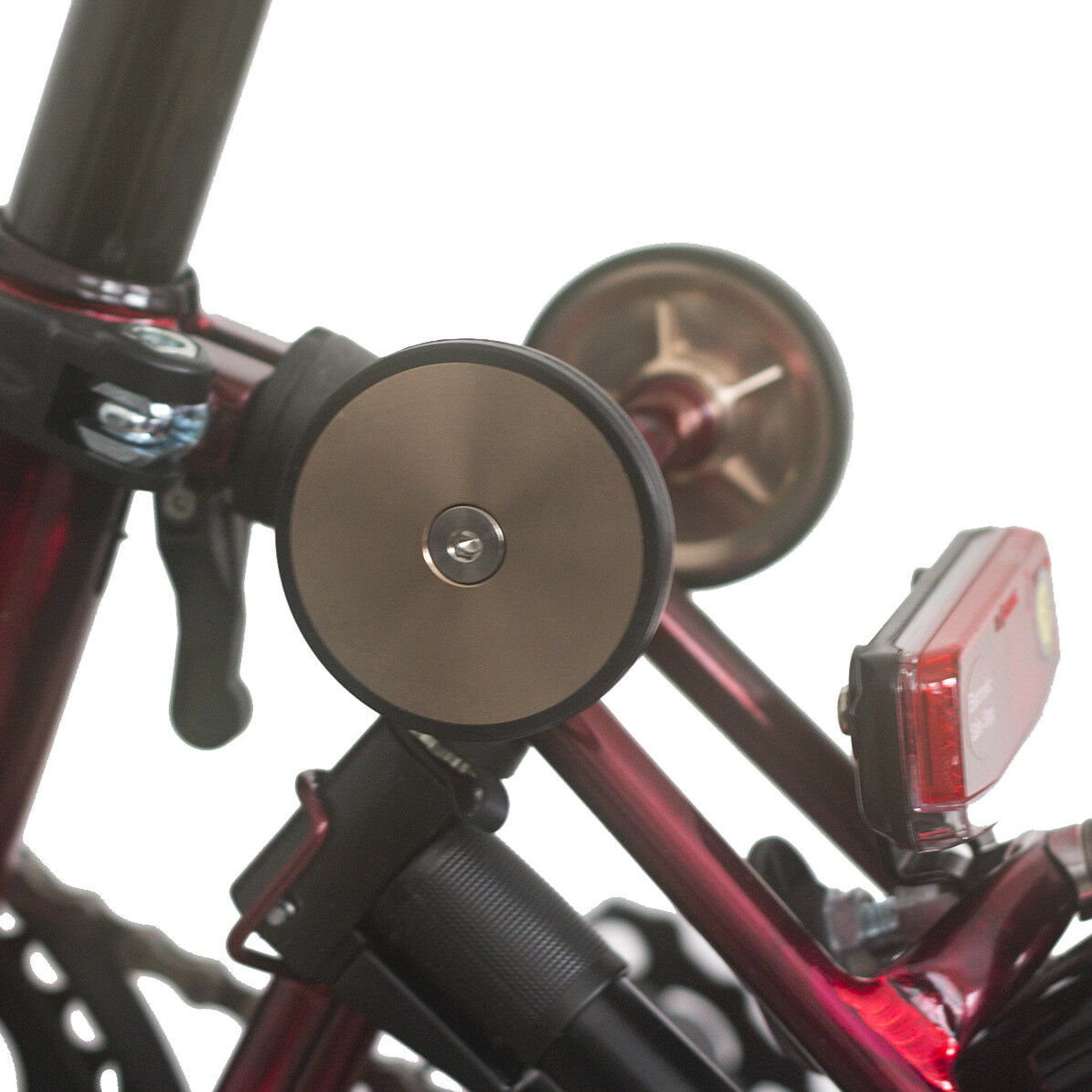 Super Lightweight Easy Wheels +Titanium Bolts For BROMPTON Rose Gold RAW LACQUER