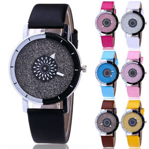 Women-039-s-Quartz-Leather-Band-Analog-Starry-Sky-Round-Dial-Ladies-Wrist-Watch-UK