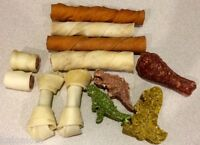 Rawhide Value Bag Dog Chews 2 Pounds Bulk Munchy Package Natural Pressed Munchie