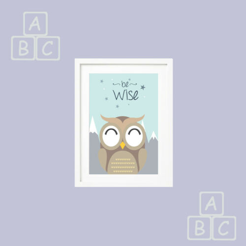Nursery Pictures Cute set of 3 Prints for Baby Boy Girl Ideal Gift keepsake Day
