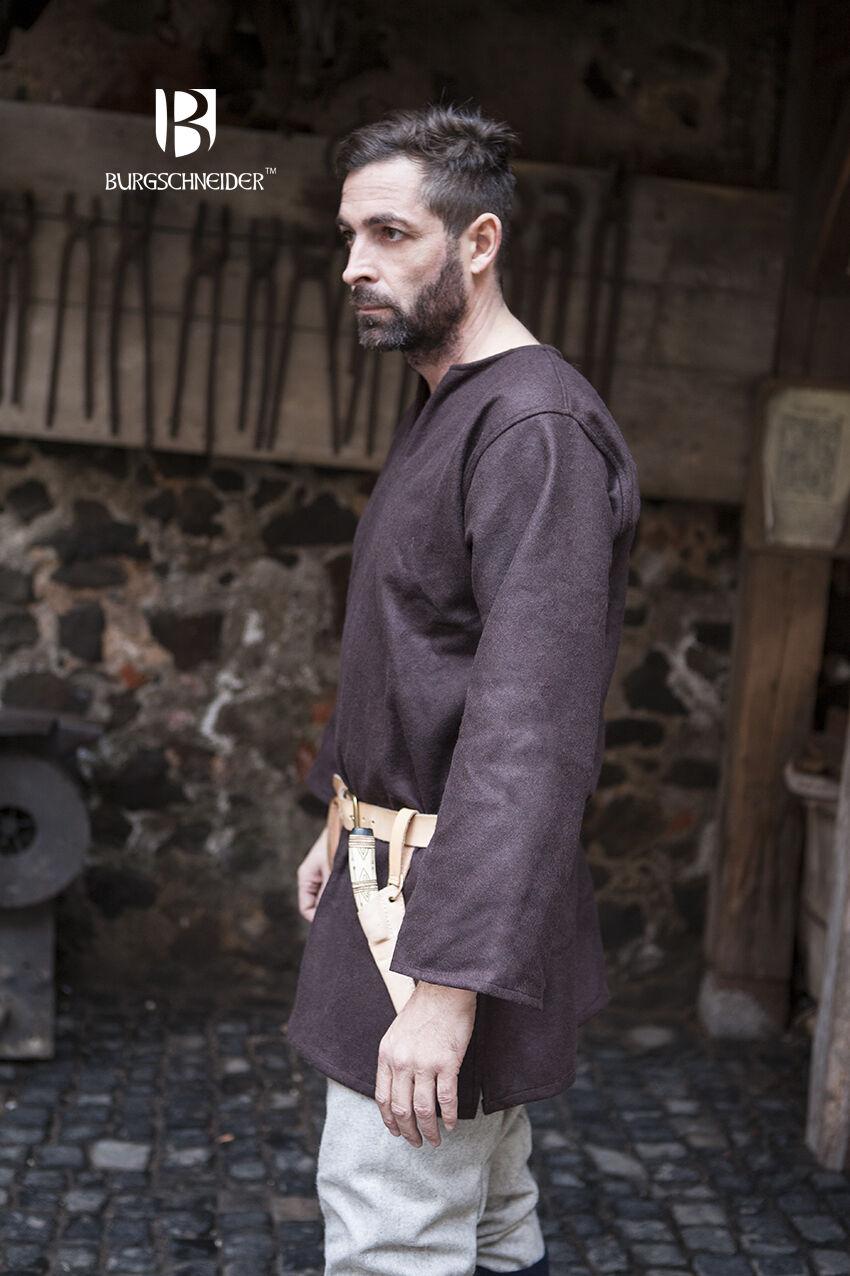 Illuminez le cadeau de de de Noël en Irak. Moyen âge tunique Vikings laine-Marron De burgschneider 25726c