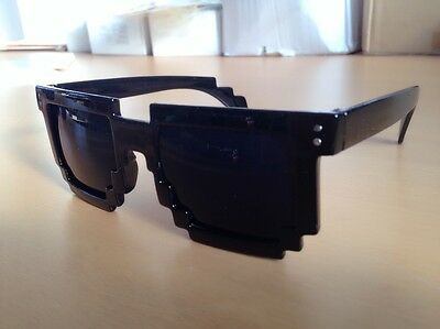 Retro 8-bit Old School Novelty Nerd Geek Gamer Mosaic 2-Tone Pixel Sunglasses