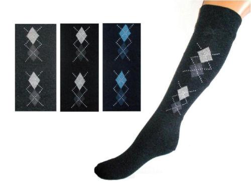 3 6 ou 12 Paire de chaussettes montantes Comfort sans pression Caoutchouc 4i1