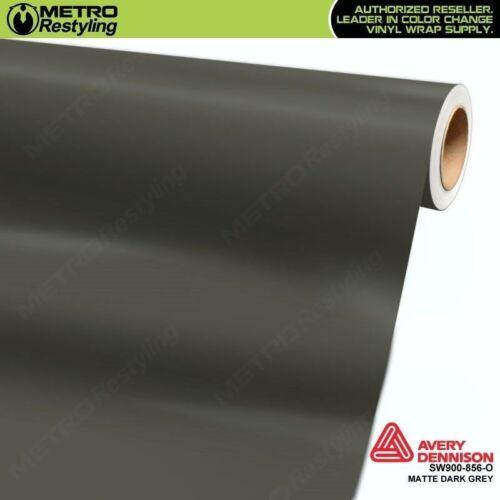 Avery SW900-856-O MATTE DARK GREY Vinyl Vehicle Car Wrap Decal Film Sheet Roll