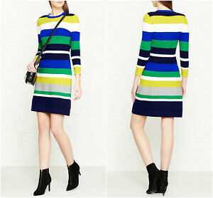 Millen Bandage Bianco 130 Dress verde Knit Evening Club Multi Party Ka007 New Stripe Blu Bnwt £ Karen Bodycon 8aWqqg5R