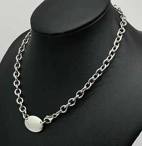 Modernist-Sterling-Silver-Chain-Necklace-31-9-grams