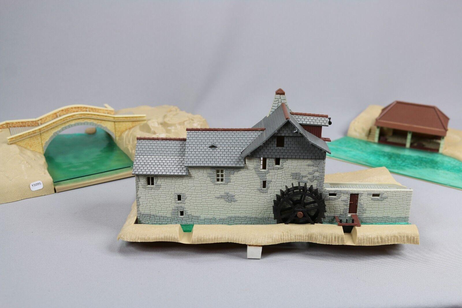 Y1105 Jouef 1015 1016 1017 maquette train Ho moulin sarthois pont romain lavoir