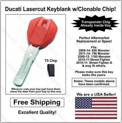 Honda Replacement Lasercut Transponder Car Key Blank w// T5 Clonable Chip 2 pak