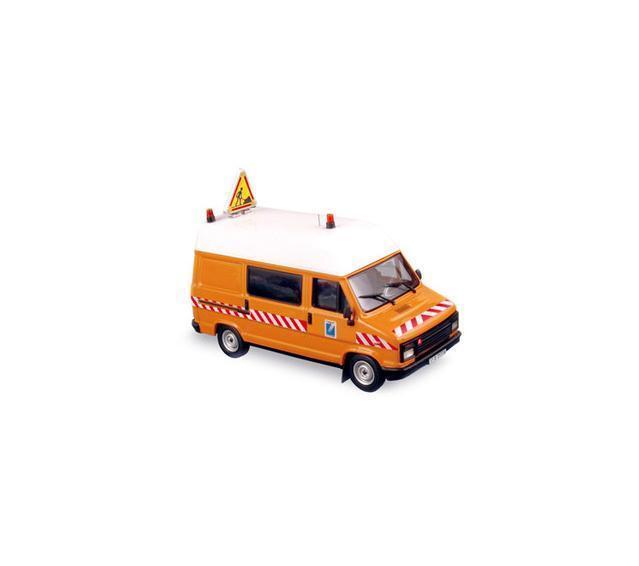 CITROEN C25 VAN - LAVORI STRADALI - DDE orange 155980  Norev 1 43 New in a box