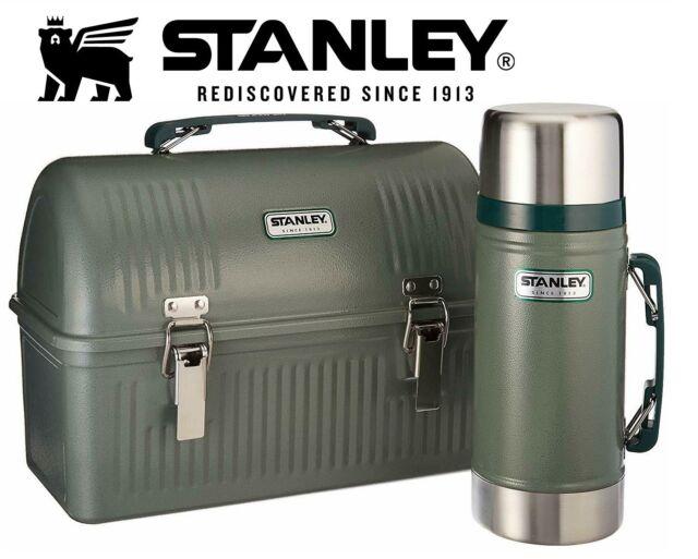 Stanley Classic Steel Lunch Box Hammer Tone Navy 10Quart NEW