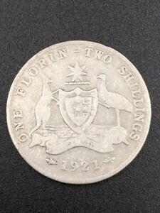 1921-Australia-Florin-92-5-Silver-Pre-Decimal-King-George-V-Coin