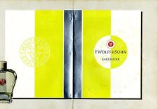 F.Wolff & Sohn Karlsruhe Preisliste- Entwurf Werbegraphik * Advertising Art 1939