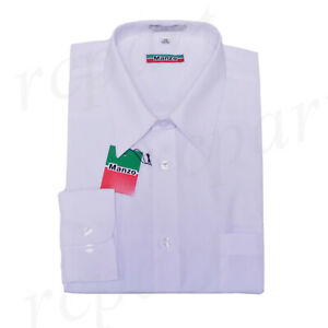 New-men-039-s-shirt-dress-formal-long-sleeve-prom-party-uniform-pointed-collar-white