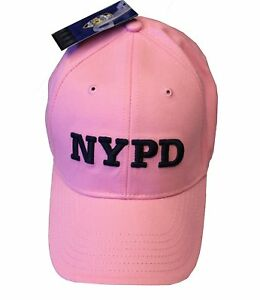 5e5a02618 Details about NYPD BASEBALL HAT BALL CAP PINK BLUE NEW YORK POLICE  DEPARTMENT COPS WOMEN