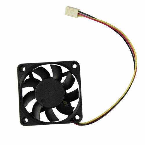 Brushless DC Fan 60mm 60mm x 15mm 12V 6015 3-Pin Black Connector Cooling