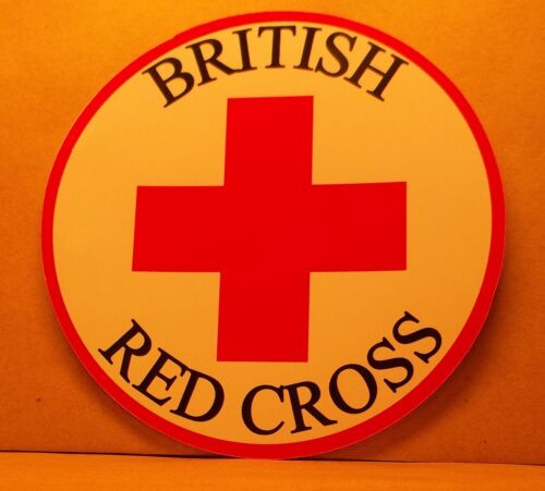 British Red Cross 9cm vinyl sticker personalised..