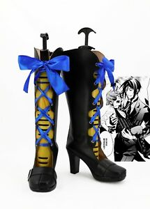 Black Butler Cosplay Costume Elizabeth Middleford Boots Boot Shoes Shoe UK