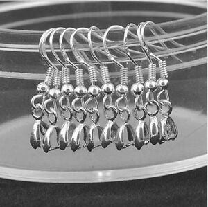 Hot-Wholesale-20PCS-DIY-Findings-925-Sterling-Silver-Hook-Pinch-Bail-Ear-Wire-B