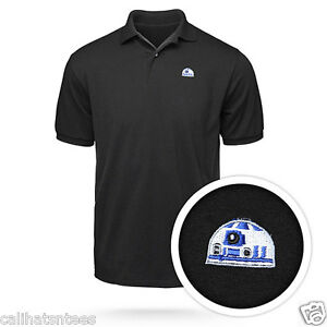 e5b5233e9 STAR WARS R2-D2 Polo Rugby Shirt Embroidered Droid Dome Adult Men's ...