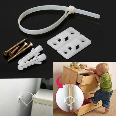 Baby safety anti-tip straps for flat TV and furniture wall strap lock protection