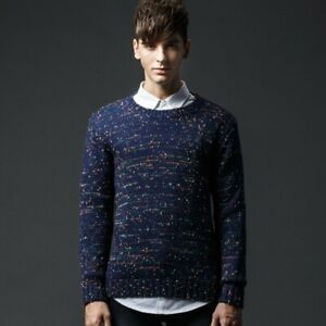 pipigo Mens Slim Knitted Camouflage Long Sleeve Pullover Sweater Jumper Top