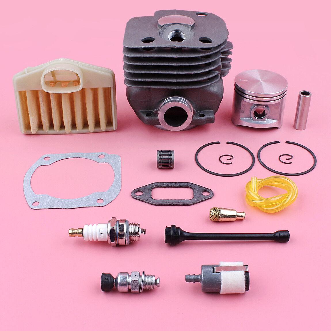 Filtro de aceite combustible aire de pistón del Cilindro Kit De Línea Para Husqvarna 365 372 371 362  50mm