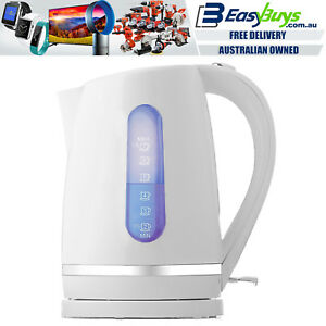 Electric-Kettle-White-and-Silver-Cordless-1-7L-Fast-Boil-Jug-with-LED-Light