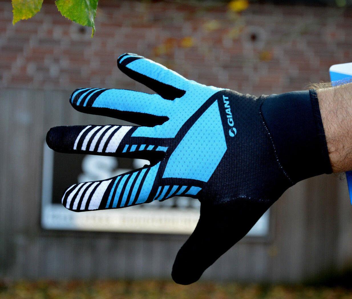 Giant Transfer leichte Langfinger Fahrrad Handschuhe MTB blue black