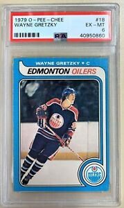 1979 O-Pee-Chee OPC Wayne Gretzky ROOKIE CARD #18 PSA 6 Edmonton Oilers Hockey