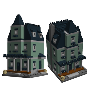 LEGO-Mini-Modular-Haunted-House-instructions-Only-custom-moc-10228-10230-Vert