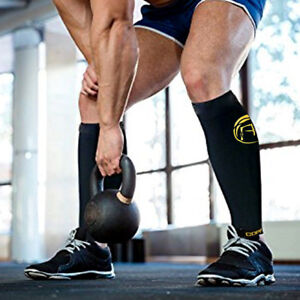 Copper-Calf-Leg-Running-Compression-Sleeve-Socks-Shin-Splint-Support-Brace-Wrap