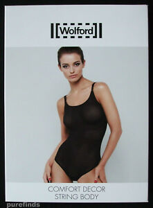WOLFORD-COMFORT-DECOR-STRING-BODY-BODYSUIT-SMALL-in-black-7005-New-in-box