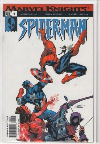Marvel Knights Spiderman #2 Mark Millar Captain America Hawkeye Avengers 9.4