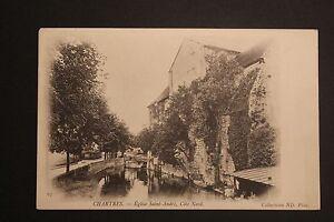 Tarjeta-Postal-Antigua-CPA-Chartres-la-Iglesia-Senalamientos-Cote-Norte